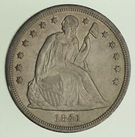 1841 SEATED LIBERTY SILVER DOLLAR - SWEET 0426