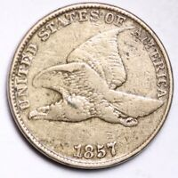 1857 FLYING EAGLE SMALL CENT CHOICE FINE SHIPS FREE E147 RNT