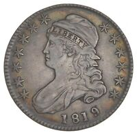 1819/8 CAPPED BUST HALF DOLLAR - SMALL 9 - O-101 7392