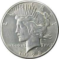 1928 $1 PEACE SILVER DOLLAR COIN AU ABOUT UNCIRCULATED