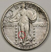 1926-S STANDING LIBERTY QUARTER.  ERROR.  CLASHED