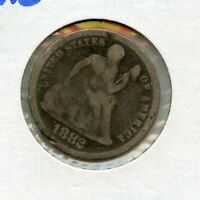 1882 SEATED LIBERTY SILVER DIME COIN 10C - RY552