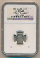 1837 SEATED HALF DIME, NGC EXTRA FINE  DETAILS