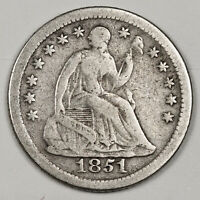 1851-O LIBERTY SEATED HALF DIME.  ABOUT FINE.  145514