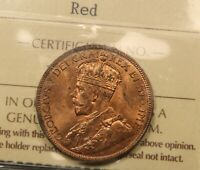 1916 CANADA LARGE CENT MS 65 RED ICCS GEM UNCIRCULATED. BV $450