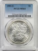 1901-S $1 PCGS MINT STATE 64 BETTER DATE MORGAN SILVER DOLLAR