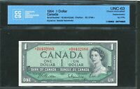 1954 BANK OF CANADA $1  BM REPLACEMENT NOTE. R NO FPN TYPE. CCCS UNC 63.