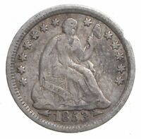 1853 SEATED LIBERTY HALF DIME   CHARLES COIN COLLECTION  332