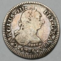 1785 MO FM CHARLES III MEXICO CITY SILVER 1 ONE REAL COIN