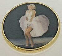 MARILYN MONROE GOLD 3D COIN BEAUTIFUL HOLLYWOOD BLONDE BOMB