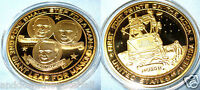MOON LANDING GOLD COIN ONE SMALL STEP FOR MAN 1969 SPACE TRA