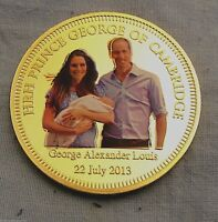 BABY PRINCE GEORGE GOLD COIN HOUSE OF WINDSOR JEWEL GOD SAVE
