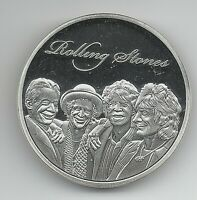 ROLLING STONES SILVER COIN ROCK N ROLL POP MUSIC BAND SONGS