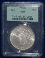 PCGS MINT STATE 63 1883 MORGAN SILVER DOLLAR OGH