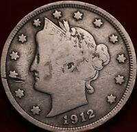 1912 S SAN FRANCISCO MINT LIBERTY NICKEL