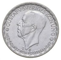 ROUGHLY THE SIZE OF A QUARTER   1948 SWEDEN 1 KRONA   WORLD