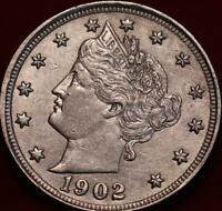 1902 PHILADELPHIA MINT LIBERTY NICKEL