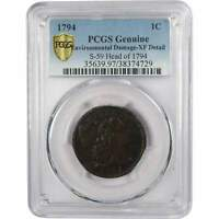 1794 S-59 HEAD OF 1794 1C LIBERTY CAP LARGE CENT PENNY COIN EXTRA FINE  DETAILS PCGS