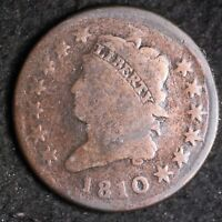 1810 CLASSIC HEAD LARGE CENT CHOICE G/VG SHIPS FREE E409 KEB