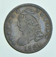 1821 CAPPED BUST DIME - LARGE DATE 6016