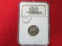 1883 PROOF SHIELD NICKLE NGC GRADED PROOF 65      PROOF MADE    [5419]