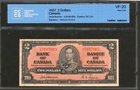 1937 $2 BANK OF CANADA. OSBORNE TOWERS. VF 20 CCCS. BC 22A.
