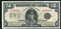 1923 $2 DOMINION OF CANADA. EF 40 BLACK SEAL. GROUP 4. DC 26L. W 976866