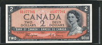 1954 $2 DEVIL'S FACE BANK OF CANADA BANKNOTE. HIGH GRADE AU /UNC. BC 30A.