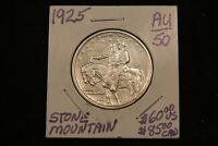 1925 USA STONE MOUNTAIN SILVER COMMEMORATIVE HALF DOLLAR. AU  BLAST WHITE.