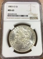 1883-O MORGAN SILVER DOLLAR VAM 36 A NGC CERTIFIED MINT STATE 63