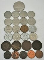 26 CANADA COINS DOLLAR TO CENT 1859 1979 MOSTLY VF BU