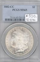 1882-CC  MORGAN SILVER DOLLAR $1 - PCGS MINT STATE 65 -  IN MINT STATE 65 65  PQ FROSTY,