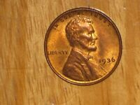 US 1936 LINCOLN SMALL CENT COIN UNC UNCIRCULATED LOTS OF LUSTRE