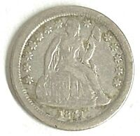 1841 O DIME SEATED LIBERTY GREAT DETAIL  90 SILVER