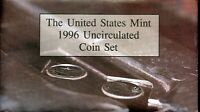 1996 P & D UNITED STATES MINT UNCIRCULATED COIN SET W/ENVELO