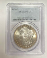 1890 S MORGAN SILVER DOLLAR PCGS MINT STATE 63