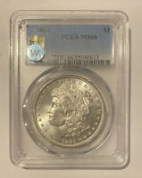 1884 P MORGAN SILVER DOLLAR PCGS MINT STATE 66 SIGHT WHITE