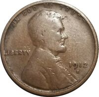 1912-S LINCOLN WHEAT CENT, PLEASING VG