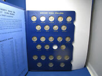 MERCURY SILVER DIME SET 1916   1945 75 COINS NO 16 D OR 21 D