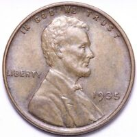 1935 LINCOLN WHEAT CENT PENNY CHOICE UNC SHIPS FREE E862 GC