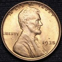 1935 LINCOLN WHEAT CENT PENNY CHOICE BU RED SHIPS FREE E866 UB