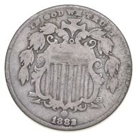 FIRST US NICKEL   1883   SHIELD NICKEL   US TYPE COIN   OVER