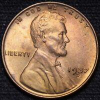1937-D LINCOLN WHEAT CENT PENNY CHOICE BU SHIPS FREE E900 RH
