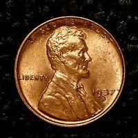 ITM-2439 1937 D [RD] LINCOLN WHEAT CENT  BU CNDTN  CARTWHEELS FRONT & BACK