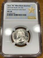 2019 W 25C GUAM WAR IN THE PACIFIC QUARTER NGC MS68
