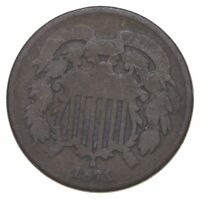 TWO CENT   1871 US TWO 2 CENT PIECE FIRST COIN WITH IN GOD