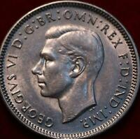 UNCIRCULATED 1943 AUSTRALIA SHILLING SILVER FOREIGN COIN