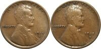 1915-D & 1915-S LINCOLN WHEAT CENTS, LOT OF 2 COINS,  CONDITION