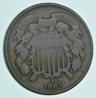 1865 TWO CENT PIECE   CHARLES COIN COLLECTION  649