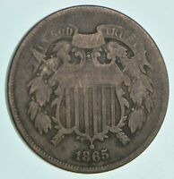 1865 TWO CENT PIECE   CHARLES COIN COLLECTION  677